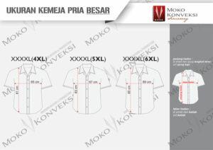Size Chart Standar Ukuran Baju Kemeja Seragam Pria Besar-Jumbo