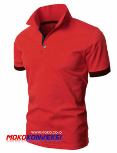 Supplier Kaos Polo Shirt Indonesia | Polo Shirt Murah Warna Merah Hitam