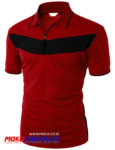 Tempat Belanja Kaos Polo Shirt / Kaos Berkerah Polos Online Warna Maroon Hitam