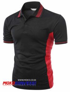 Jual Polo Shirt Online Model Kaos Kerah Keren Warna Hitam Merah