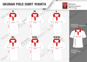 size standar ukuran wanita kaos polo shirt terbaru