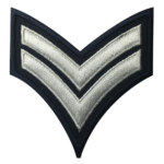 Jenis Bordir Badge Berkualitas Embroidered Patch Military With Regimental Stripes
