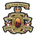 Lambang Bordir Badge Regimental Badge With Details And Color Blending Embroidered on Woolen Felt