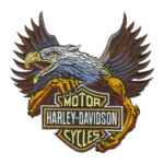 Jasa Buat Bordir Badge Motor Harley Davidson Cycles Embroidery