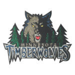 Jual Bordir Topi Emblem Badge Logo Embroidery Minnesota Timber Wolves