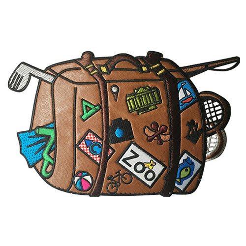 Jual Bordir Badge Embroidery Patch Travel Bag