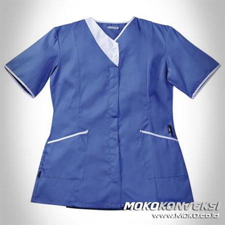 Seragam Medis Baju Suster Rumah Sakit Warna Biru Putih
