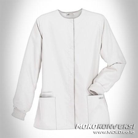 model baju perawat rumah sakit warna putih