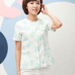 Gambar Desain Baju Perawat Warna Putih Motif Untuk Pakaian Seragam Rumah Sakit