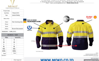 Jacket Safety Tambang Plus Scotchlite Reflective Material
