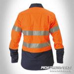 Konveksi Baju Wearpack Wanita Lengan Panjang Warna Orange Biru Scotchlite