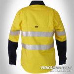 Baju Seragam Wearpark Wanita Warna Kuning Biru Scotchlite