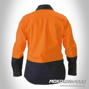 Baju Safety Wearpack Wanita Warna Orange Biru Navy