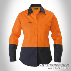 Model Baju Wearpack Safety Wanita Warna Orange Biru Navy