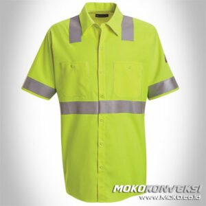 Model Baju Safety Wearpack Simple High Visibility Warna Hijau Stabilo / Lime Scotchlite