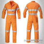 Model Seragam Wearpack Safety Coverall Standar Warna Orange Scotchlite Reflektor