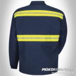 baju safety baju safety lapangan k3 lengan panjang navy