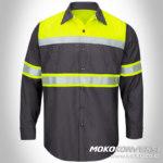 baju safety harga wearpack safety lengan panjang kombinasi mokocoid