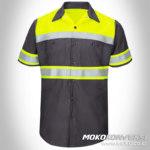baju safety harga wearpack safety lengan pendek scotchlite mokocoid