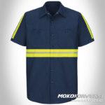 baju safety jual wearpack kerja navy lengan pendek