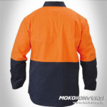 wearpak smk orange hitam
