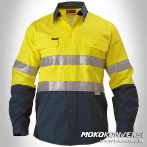 Jual Wearpack Safety Kuning Biru Dongker