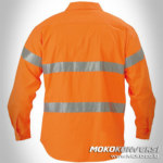 Wearpack Safety Shirt Mens Orange Scotchlite back view