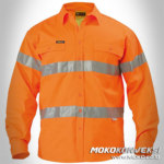Safety Shirt Mens Hi-vis Orange Scotchlite front view