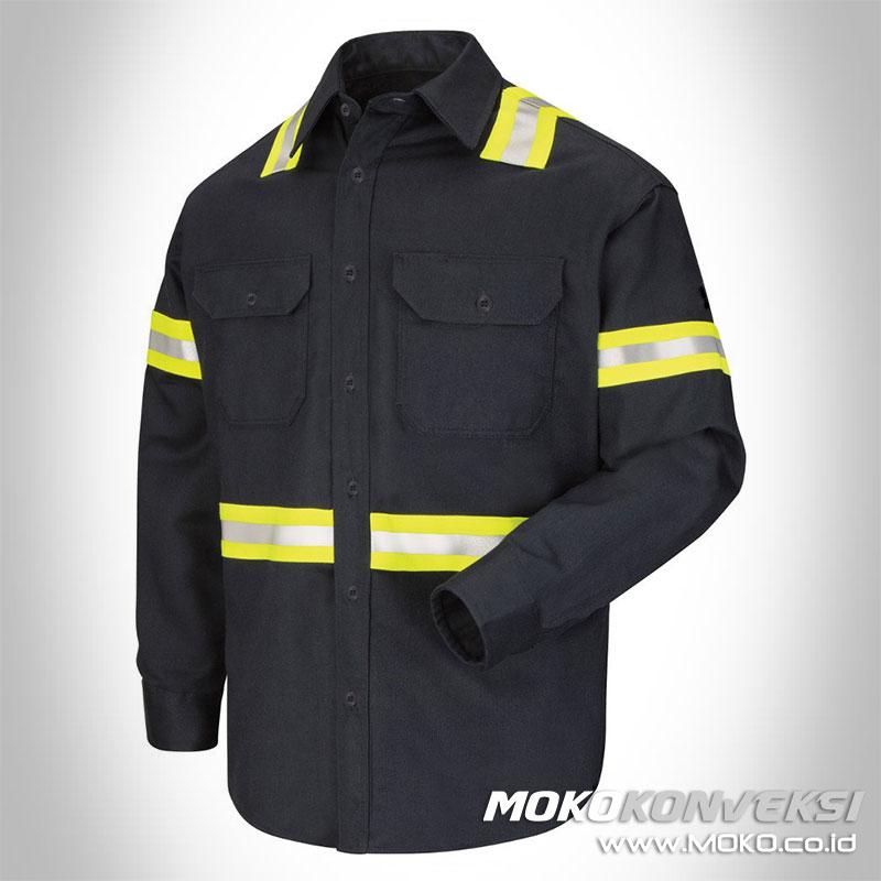 contoh baju wearpack safety wearpack kerja model terbaru
