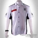 Jual Baju Kemeja Putih Keren Pakaian Kru honda car f1 shirt