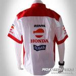 Jual Kemeja Putih Laki-Laki | Kemeja Pria Online | Seragam Kru Honda Repsol | Motorcycle Shirt