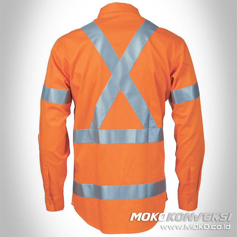 pakaian safety harga baju lapangan safety orange lengan panjang