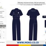 Contoh Wearpack Coverall Seragam Praktek SMK Jurusan Teknik Kendaraan Ringan