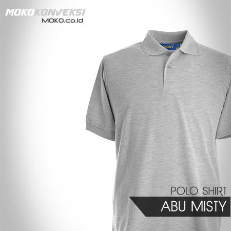 Model Baju Wangki Kaos Seragam Polo Shirt polos warna abu misty