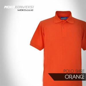 Kaos Seragam Polo Shirt polos warna orange