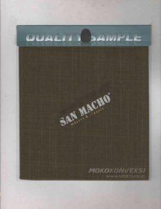 Sample Kualitas Bahan Kain Celana San Macho kain seragam lapangan