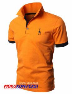 Belanja Online Kaos Berkerah Bordir Kaos Polo Bordir Seragam Warna Orange
