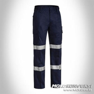 Contoh Celana Seragam Wearpack Pants Safety Black Double Scotchlite