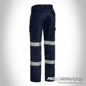 Setelan Celana Baju Wearpack Pants Safety Black Double Scotchlite