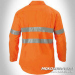 Harga Baju Safety Wearpack Tambang Warna Orange Polos Plus Scotchlite Reflektor Konveksi Baju Safety Moko Konveksi