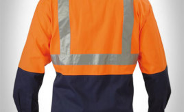 Jual Wearpack Safety Warna Orange Biru Dongker / Navy Scotlight Tape Desain Alternatif
