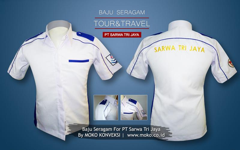 Supplier Baju Seragam Kantor Online Moko Konveksi | Desain Seragam Kerja Sarwa Tri Jaya - Tour & Travel Surabaya Indonesia