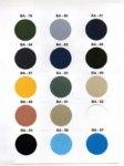 moko konveksi kain genzana 4 sample warna kain untuk seragam kantor