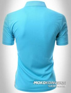 polo shirt bordir model polo shirt sporty warna biru belakang moko konveksi