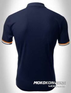 jual kaos polo murah polo shirts double stripes warna navy moko konveksi