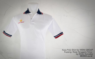 Kaos Polo shirt WEIN GROUP Kupang NTT depan