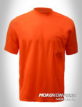 model kaos polos safety warna orange lengan pendek moko konveksi