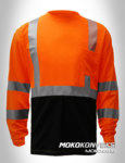 jual kaos oblong safety kombinasi orange biru navy lengan panjang scotchlite moko konveksi