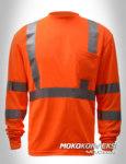 harga kaos oblong safety online lengan panjang warna orange scotchlite moko konveksi
