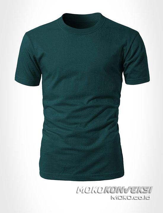 jual baju polos online moko konveksi - beli kaos polos warna hijau tua